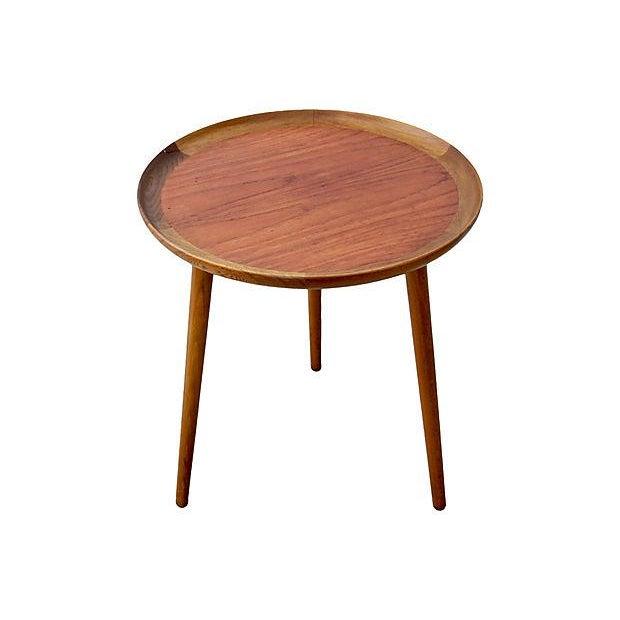 Danish Modern Danish Modern Teak & Walnut Tray Table For Sale - Image 3 of 6