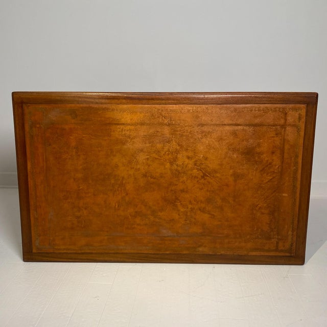 Wood Campaign Mahogany Desk, Denmark Circa 1910 For Sale - Image 7 of 9