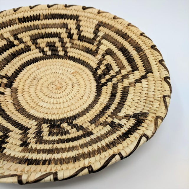 Mid 20th Century 20th Century Native American Tohono O'odham Woven Basket For Sale - Image 5 of 9