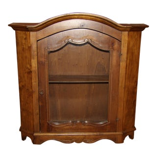 Early 20th Century Antique Wood Hanging Wall Cabinet For Sale
