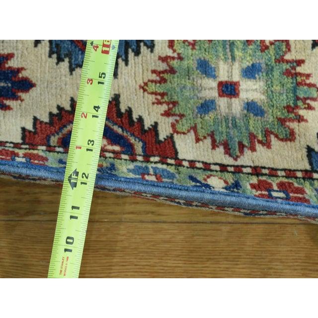 Islamic Hand-Knotted Kazak Geometric Design Wool Rug- 10′1″ × 14′ For Sale - Image 3 of 6