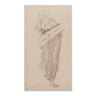 1950s Lithographic Print Sir Edward Burne-Jones Study