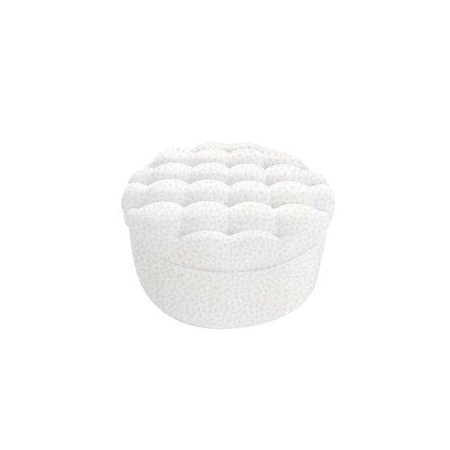 """Custom to Order """"The White Series"""" Collection Ottoman For Sale"""