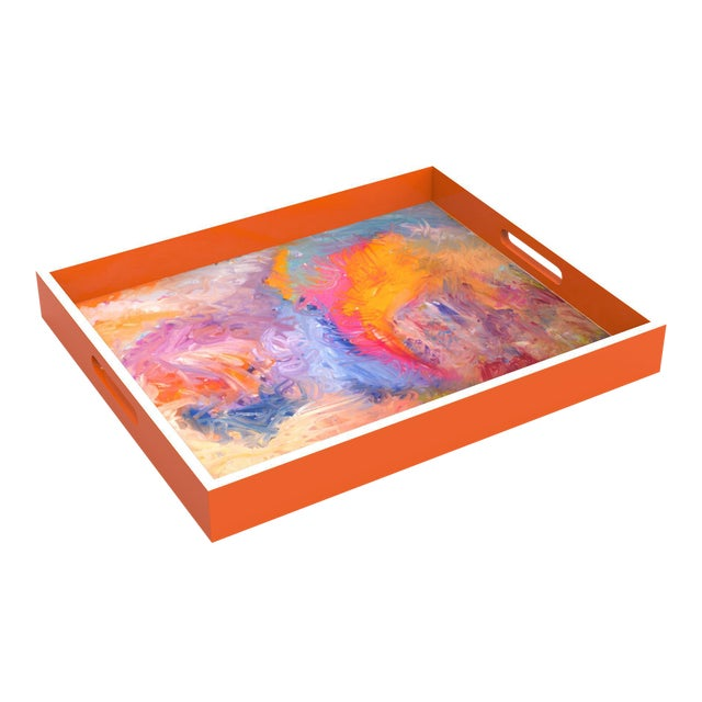"""""""The Other Side"""" Lacquer Tray For Sale"""