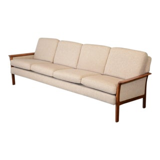 Hans Olsen Style Rosewood Framed Sofa