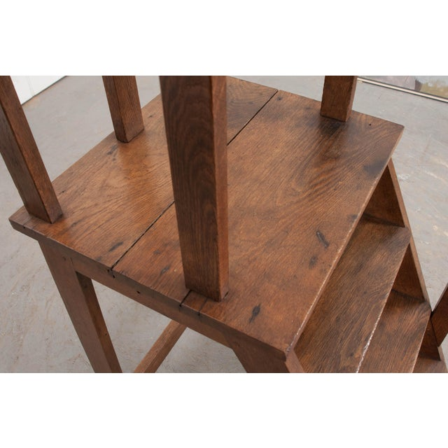 English Late 19th Century Oak Library Steps For Sale - Image 10 of 13