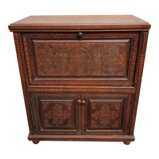 Moroccan Cedar Wood Cabinet For Sale