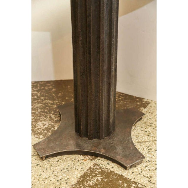 1920s Two Fluted Iron and Stone Side Tables For Sale - Image 5 of 9