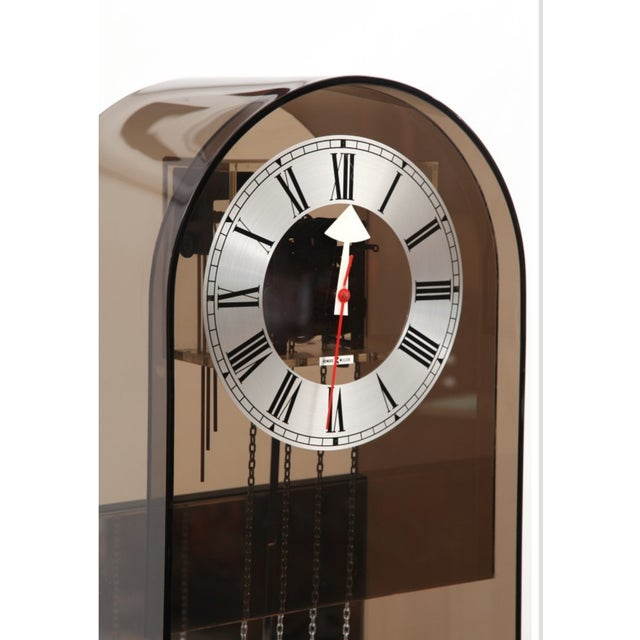 1970 Vintage Howard Miller Smoked Lucite Clock - Image 4 of 7