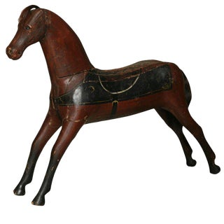 Painted Wooden Toy Horse For Sale
