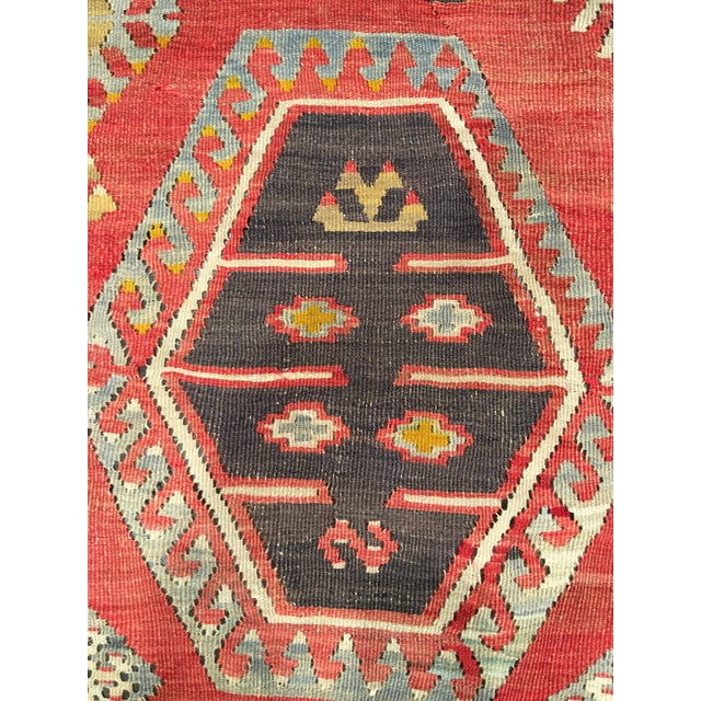 "Bellwether Rugs Vintage Turkish Kilim Rug - 8'3"" x 10'8"" - Image 9 of 11"