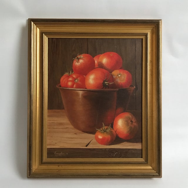 """'Summers Bounty"""" Oil Painting on Canvas For Sale - Image 5 of 5"""