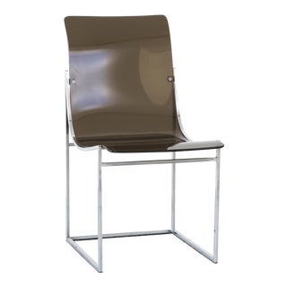 Lucite Side Chair by Milo Baughman For Sale