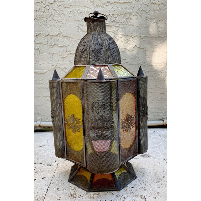Mid 20th Century Vintage Moroccan Lantern Candle Holder For Sale - Image 5 of 12