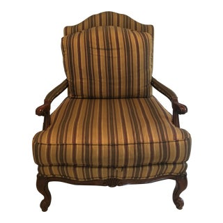 Ethan Allen Contemporary Bergere Chair For Sale