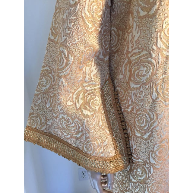 5163bb2c14 Moroccan Caftan in Gold Bronze Metallic Brocade Maxi Gown Dress Kaftan For  Sale In Los Angeles