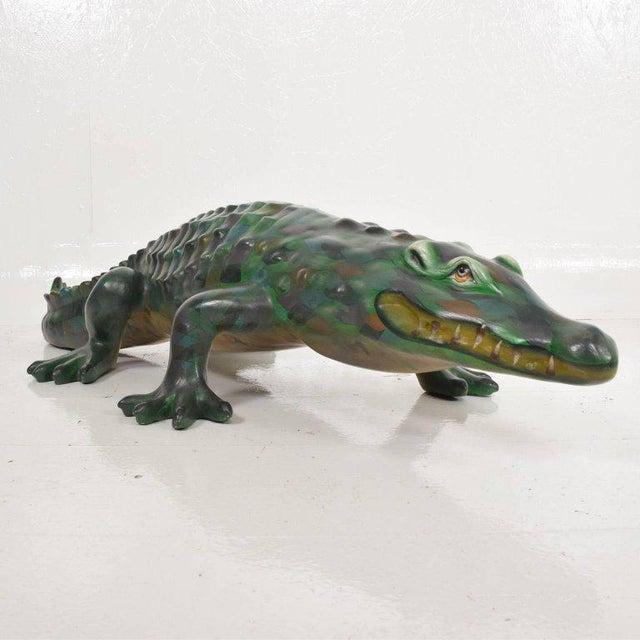 Whimsical Sergio Bustamante Papier Mâché Crocodile Sculpture, Mexico, 1970s For Sale - Image 9 of 12