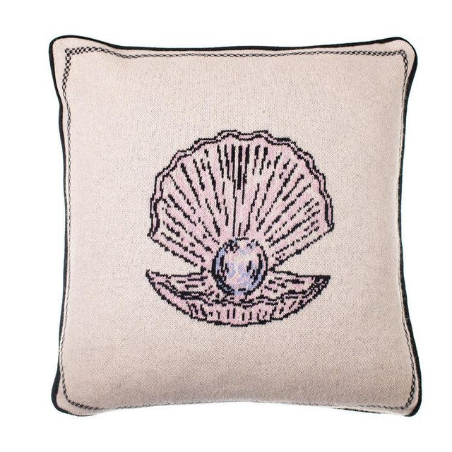 Contemporary Fee Greening - Pearl Cashmere Pillow For Sale - Image 3 of 3