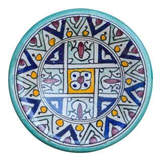 Antique Ceramic Plate W/ Moorish Pattern For Sale