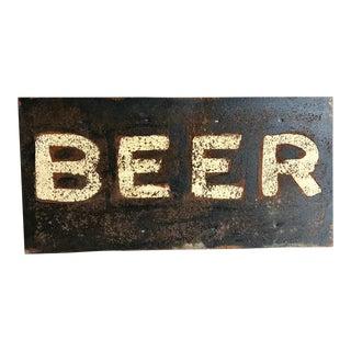 Hand Lettered Beer Sign