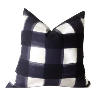Blue Buffalo Check Pillow Cover For Sale