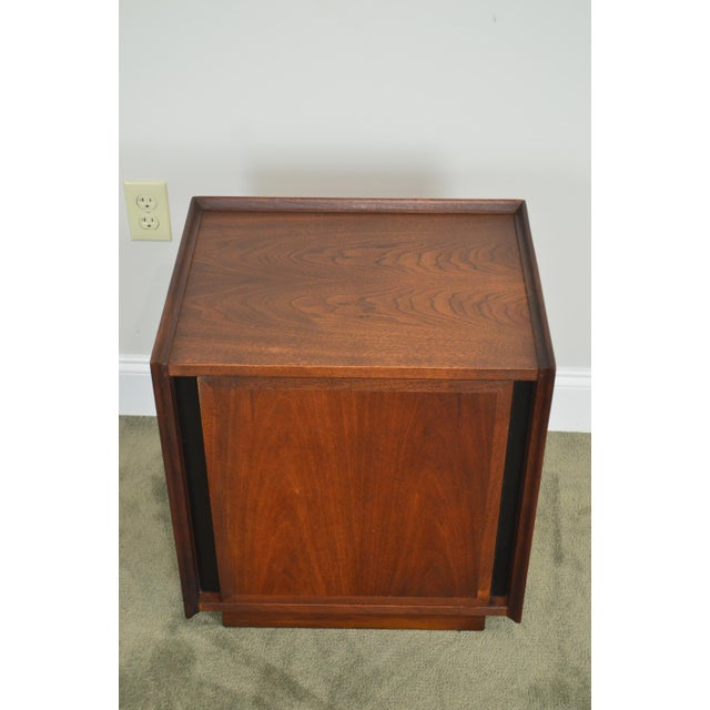 Wood Milo Baughman for Dillingham Mid Century Modern Walnut Nightstand For Sale - Image 7 of 13