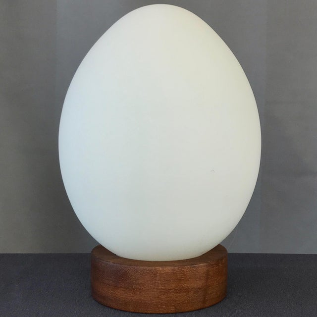 "French Mid-Century Vianne Glass ""Egg"" Lamp For Sale - Image 9 of 9"