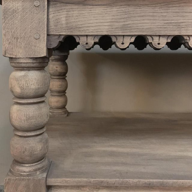 Early 19th Century Rustic Renaissance Stripped Oak Counter For Sale - Image 12 of 13