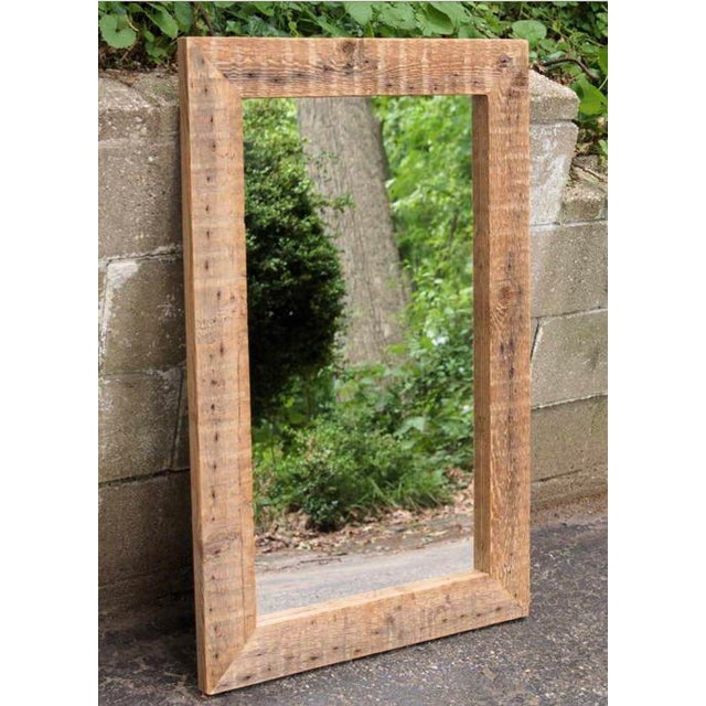Reclaimed Barn Beam Mirror For Sale - Image 4 of 4