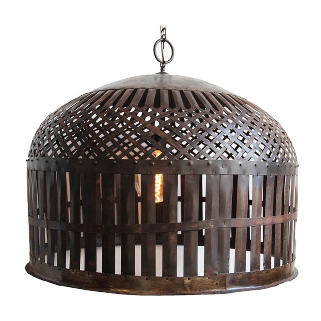Industrial Cage Lantern - Image 1 of 3
