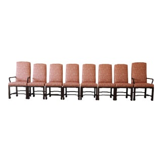 Mario Buatta for John Widdicomb Chinoiserie Dining Chairs - Set of 8 For Sale