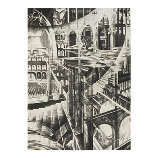 Surreal Etching by Camille Paul Josso For Sale