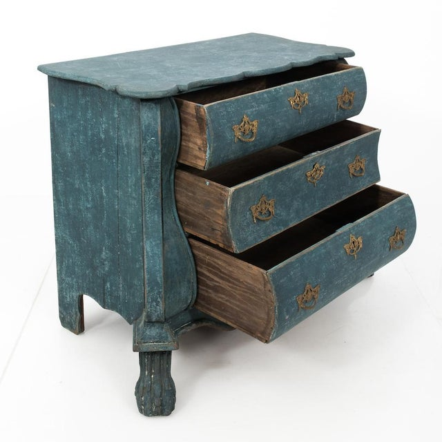 Paint Dutch Blue Bombay Commode For Sale - Image 7 of 11