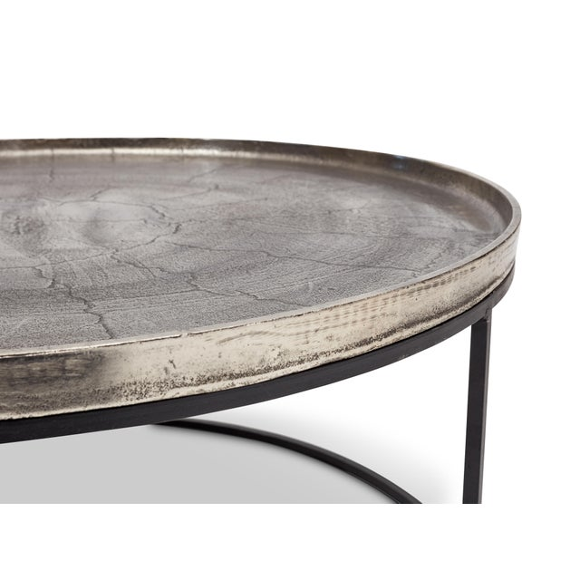 Sana Coffee Table in Silver For Sale - Image 4 of 5