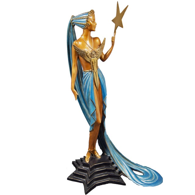 """Blue """"Astra"""" Limited Edition Bronze Statuette by Erte For Sale - Image 8 of 8"""
