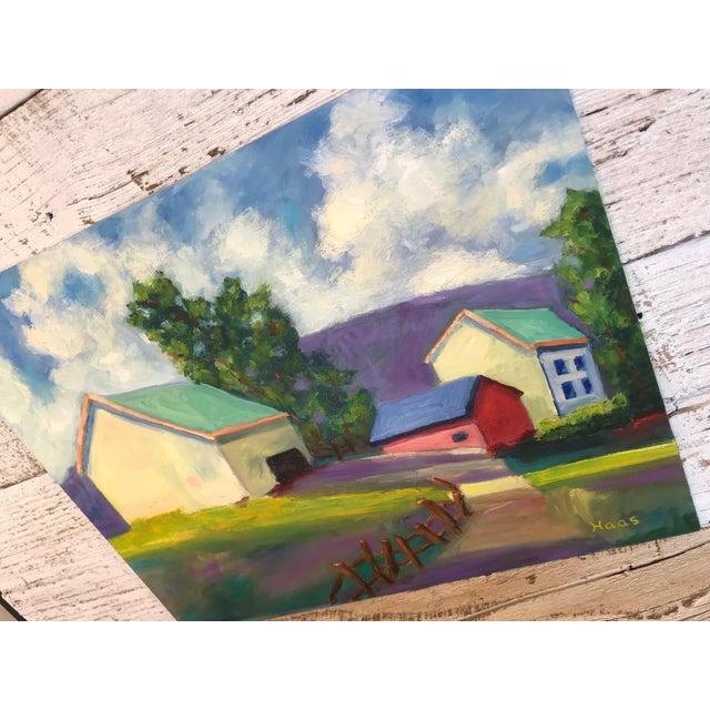 "Original ""Streak of Morning Light"" Landscape Oil Painting For Sale - Image 4 of 5"
