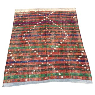 "Vintage Turkish Kilim Rug - 6'2"" x 8'"
