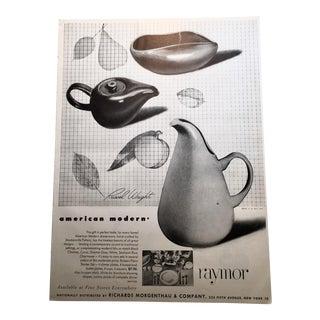 Russel Wright Dinnerware Raymor 1943 Advertisement