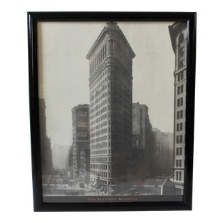 Iconic Vintage New York Flatiron Building Framed Poster