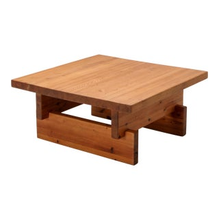 Roland Wilhelmsson Coffee Table in Pine - 1970s For Sale