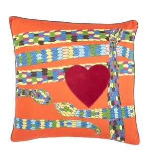 Yves Persimmon Pillow W/ Micro Cord For Sale