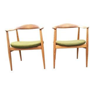 Danish Modern, Vintage,Wegner Style, Circle Chair - a Pair For Sale