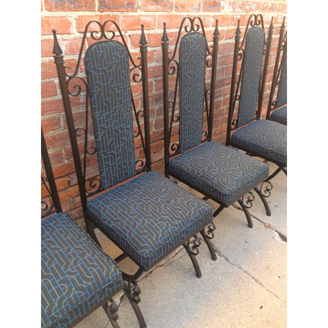 Midcentury Spanish Revival Dining Chairs - Set of 6 - Image 3 of 8