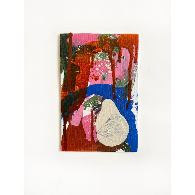 Original painting by contemporary artist Jessalin Beutler completed in 2020. Acrylic and collage on canvas wrapped board,...