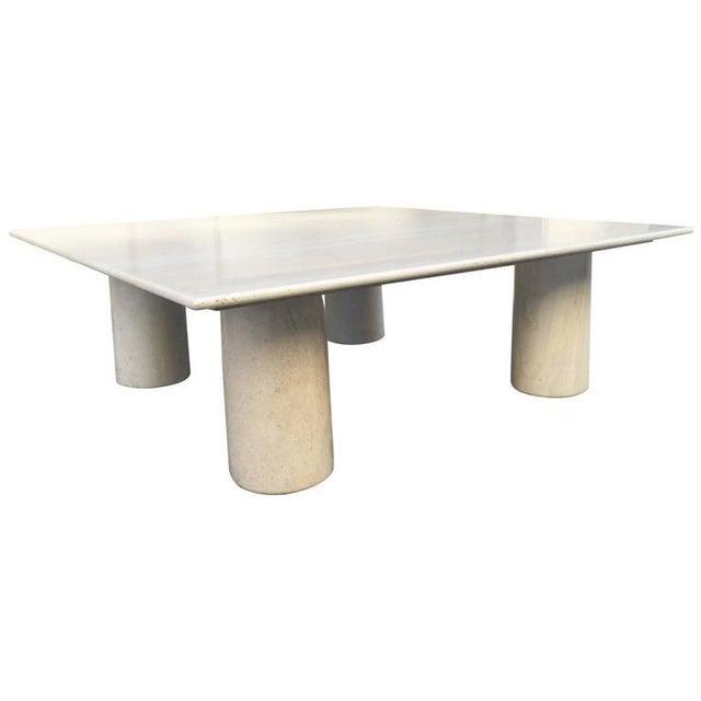 Mid-Century Modern Large Mario Bellini Italian Marble Coffee Table For Sale - Image 3 of 5
