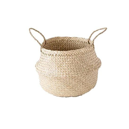 2010s Medium Seagrass Belly Basket For Sale - Image 5 of 5