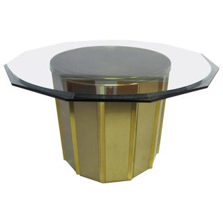 Mastercraft Faceted Brass Dining Table For Sale