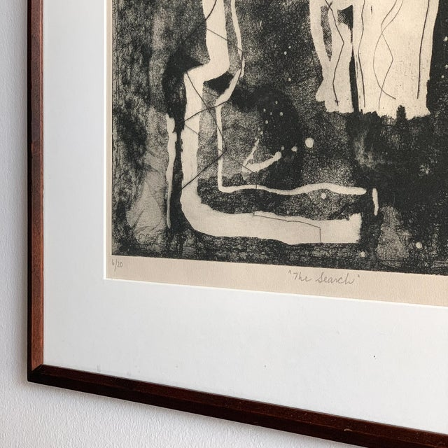 "Louise Nevelson Framed Etching ""The Search"", 1953-1955 For Sale In Chicago - Image 6 of 8"