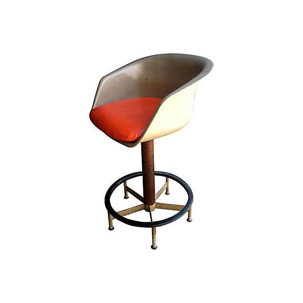 Saarinen Style Swivel Bar Stool By Burke - Image 4 of 6