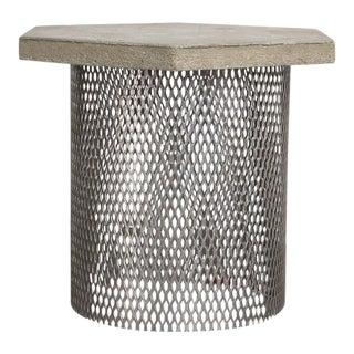 Concrete & Wire Concept Side Table For Sale